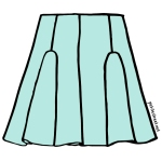 petite-street-&-other-stories-neoprene-scuba-skirt-illustration-green