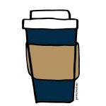 petite street coffee cup illustration